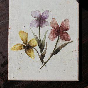 FLORAL FRIENDS ✺ watercolor painting (6x8 canvas)